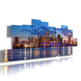 panel with images of Miami