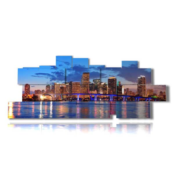 panneau avec des tableaux de Miami