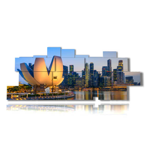Singapore foto città in un quadro