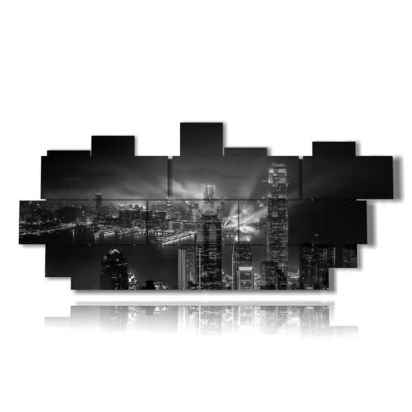 photo Hong Kong city in a picture in black and white