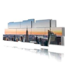 Quadro moderno - Londra 04 - Multipannello e multilivello 3D