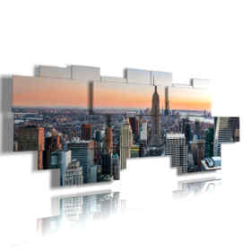 quadro moderno New York con vista dall alto