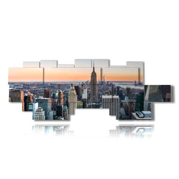 quadro moderno new york con vista dall alto