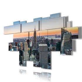 Quadro moderno - Londra 05 - Multipannello e multilivello 3D
