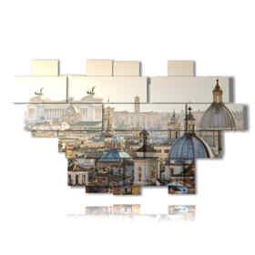 tableaux toits panoramiques de Rome