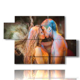 quadro con poster moderni di innamorati
