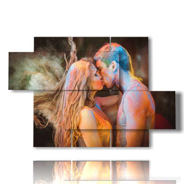 Bild mit modernen Liebhaber Poster