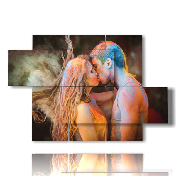 tableaux avec des affiches des amants modernes