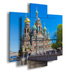 Printed picture - Paris 04 - Multipanel and multilevel 3D. Large size