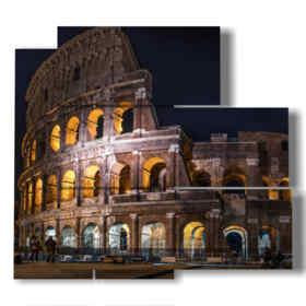 foto antigua del Coliseo por la noche imágenes Roma