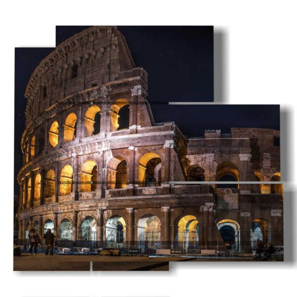 ancient photo of the Colosseum at night pictures Roma