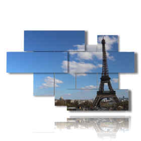 tableaux modernes de Paris et de la Tour Eiffel