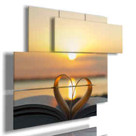 painting sunset in a book the heart