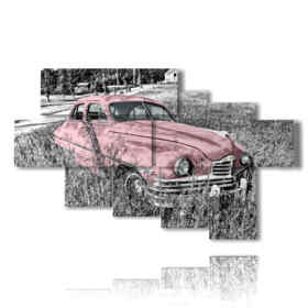 paintings pink car used cars