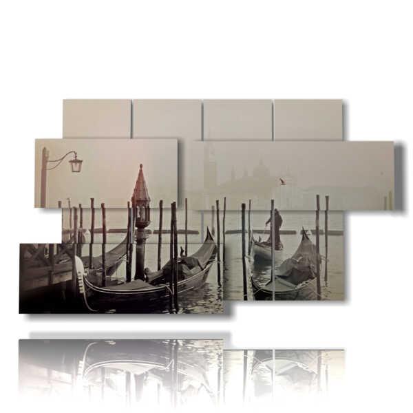 Bilder von Venedig Gondeln und Nebel