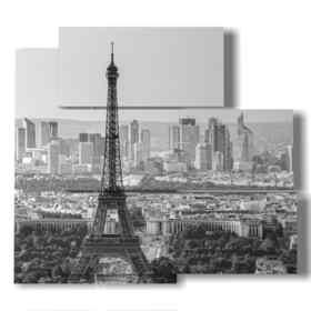quadro di Parigi panoramica bianco e nero