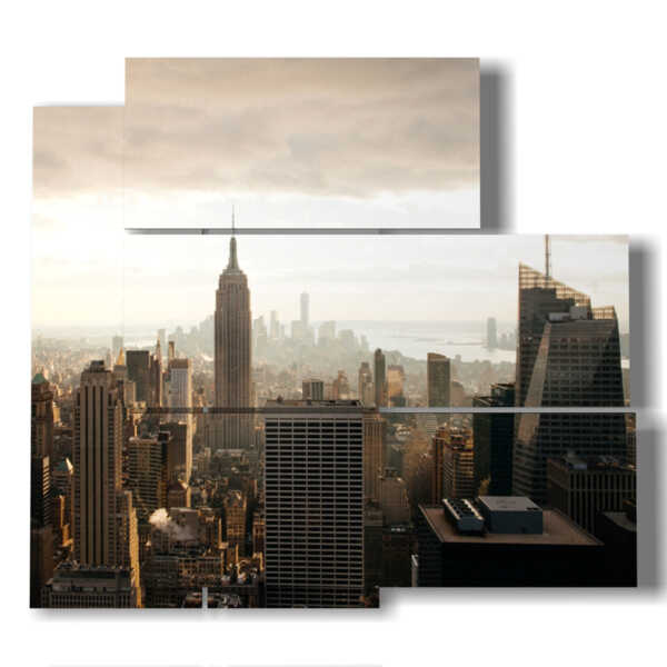Bild Skyline von New York bei Sonnenaufgang
