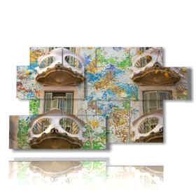 The paintings barcelona Casa Batllo by Antonio Gaudi