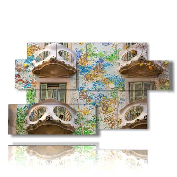 quadri barcellona La Casa Batlo di Antonio Gaudi