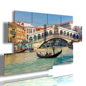 Quadro moderno - Pittura 01 - Multipannello e multilivello 3D