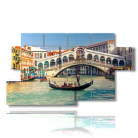 Quadro moderno - Acqua 01 - Multipannello e multilivello 3D