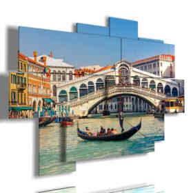painting of Venice Rialto Bridge