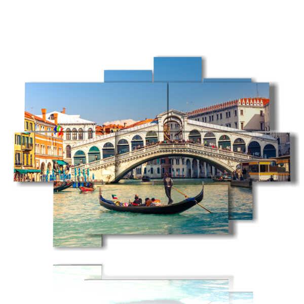 cuadro de Venecia Puente de Rialto