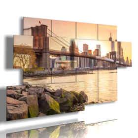 Quadro moderno - Colori - Multipannello e multilivello 3D