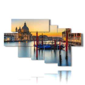 Tableau moderne Venise au coucher du soleil enchanteur