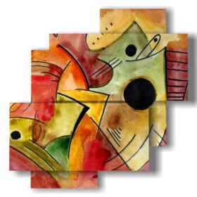quadro astratto colorato con figure a fantasia