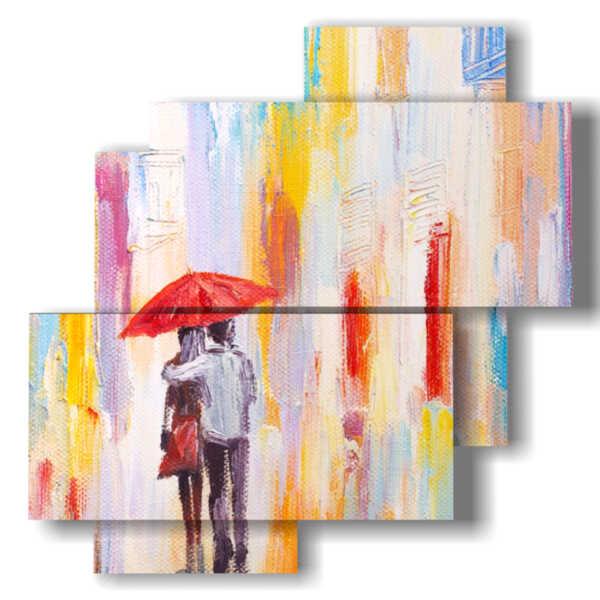 imágenes paraguas cuadros abstractas modernos