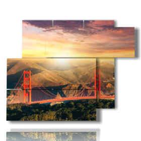 tableaux photo pont San Francisco
