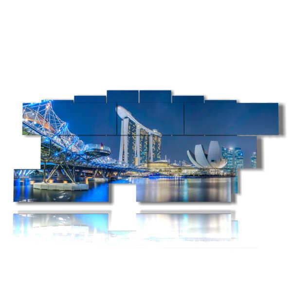 singapore foto mare nel quadro illuminato a notte