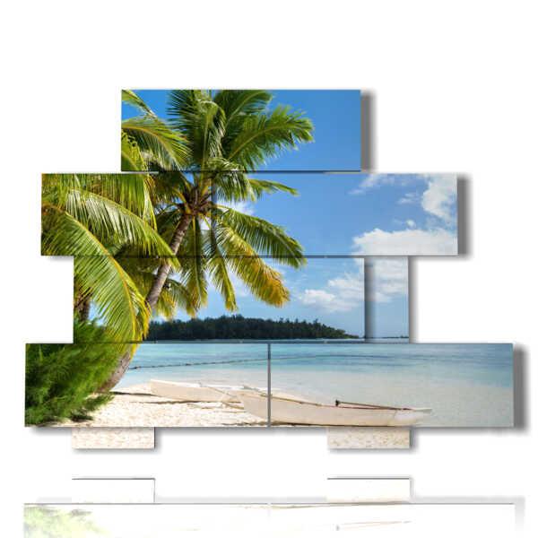 mare quadro Caraibi in un'isola solitaria