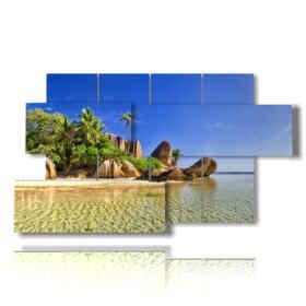 quadri caraibici nell'isola di Seychell