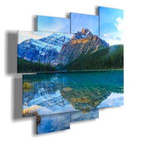 quadri con laghi e montagne