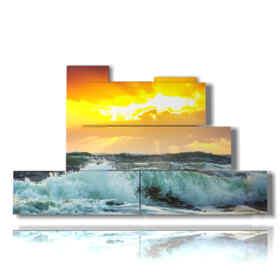 quadri con mare quando il sole buca le nuvole