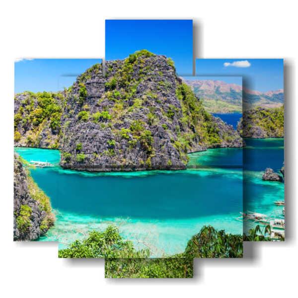 quadro paesaggio mare moderno Blue Lagoon