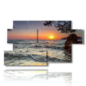 tableaux couchers de soleil en Croatie