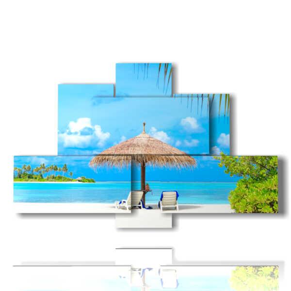 quadri moderni tema mare alle Maldive