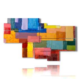 coups de pinceau de tableaux géométriques colorées