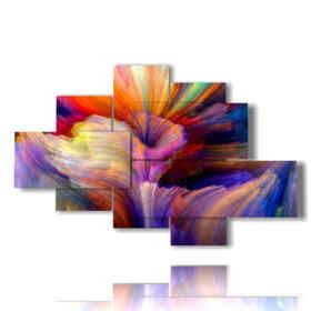 estampes tableaux abstraites fleurs