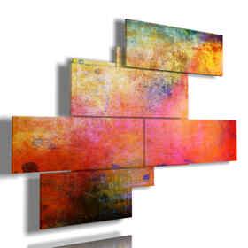cuadros modernos con paneles de colores vapores