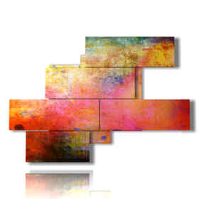 Modern paintings panels with colour vapours