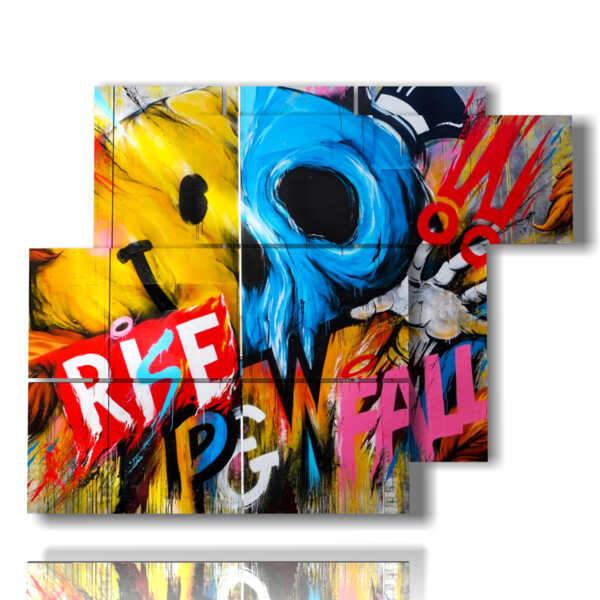 quadri con scritte per cucina murales MULTILIVELLO 3D Design