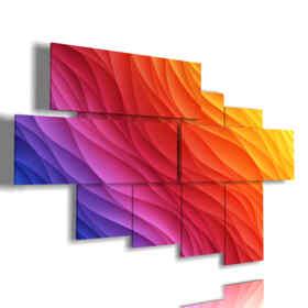 coloridas cuadros modernos en las ondas