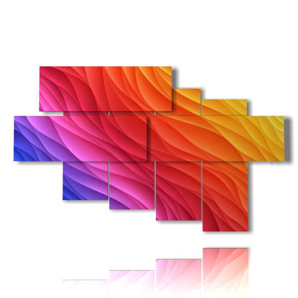 quadri coloratissimi moderni in onde