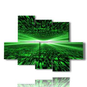 tableaux psychédéliques vert