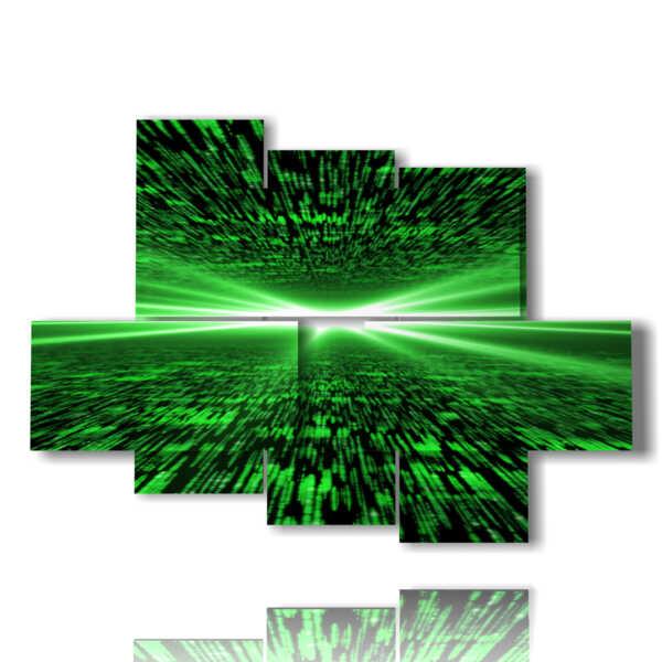 quadri psichedelici verdi