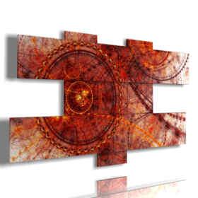 quadri moderni con rosso antico